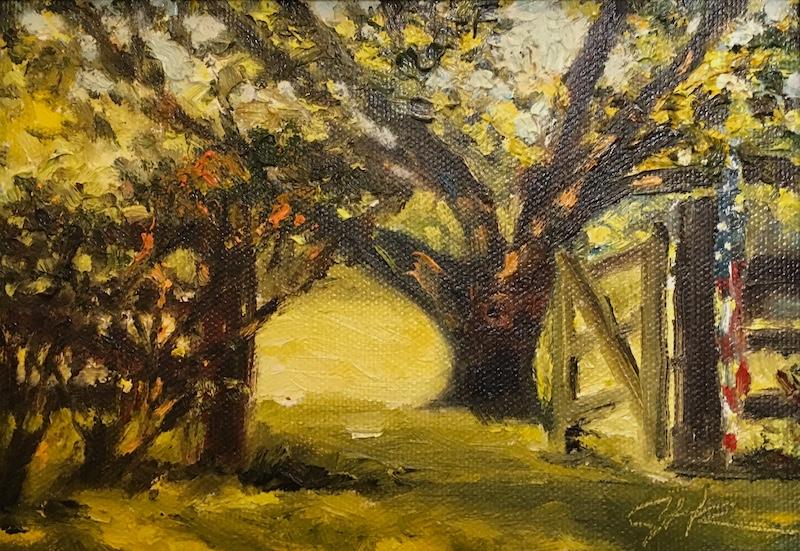 FADED GLORY by Jennifer Hansen Rolli - 5 x 7 in., o/c • $900