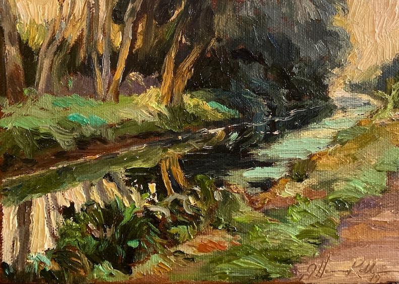 A little treasure: LUSH CANAL by Jennifer Hansen Rolli - 5 x 7 in., o.b • SOLD