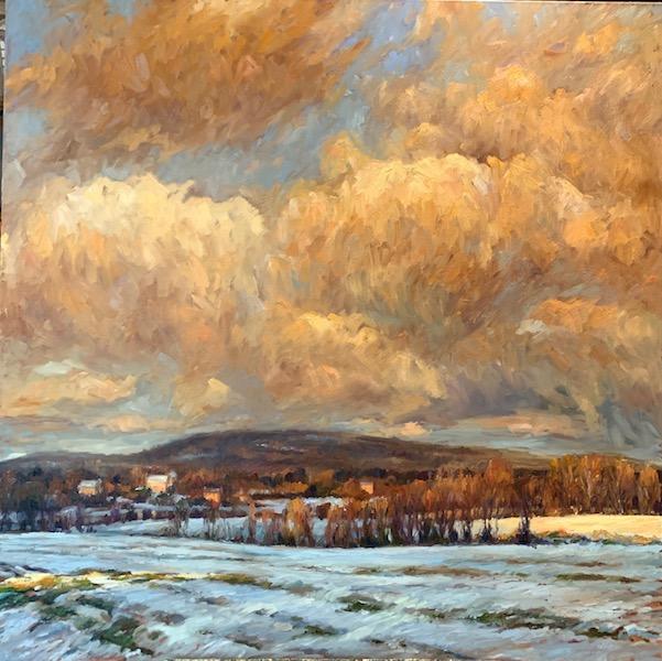 WINTER HILLS BELOW NEW HOPE by Jennifer Hansen Rolli - 48 x 48 in., o/c • SOLD