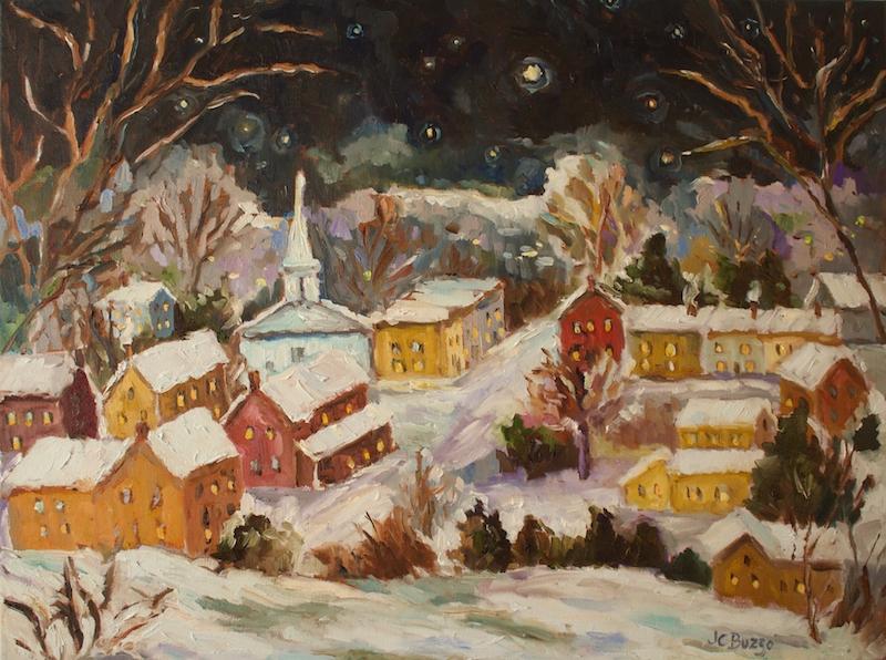 LAMBERTVILLE MOONLIGHT VI by Jean Childs Buzgo - 18 x 24 in., o/c • SOLD