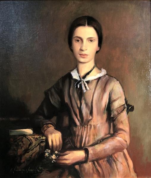 EMILY DICKINSON (cover illustration) by Glenn Harrington - 18 x 16 in., oil on linen/board • $6,800