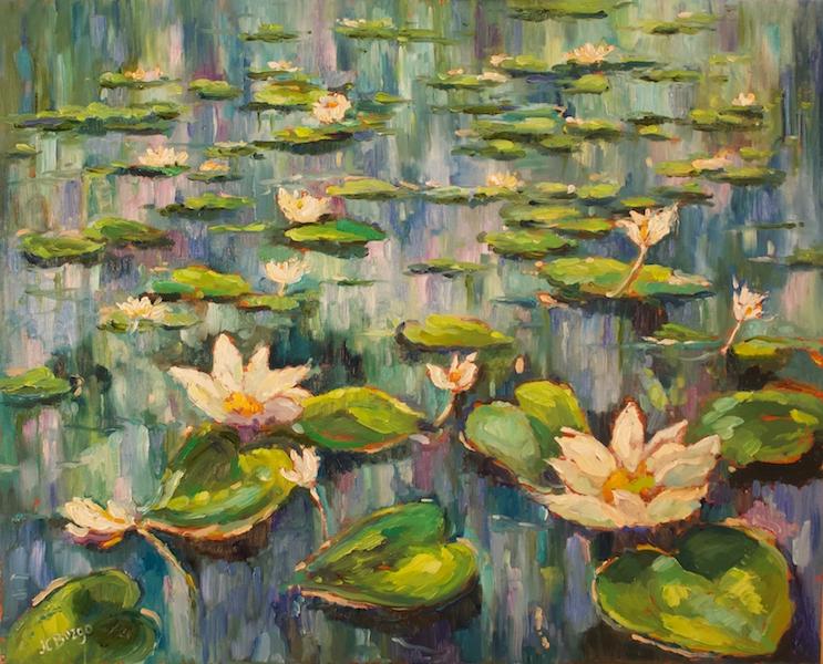 WATERLILIES by Jean Childs Buzgo - 16 x 20 o/c • $2,000