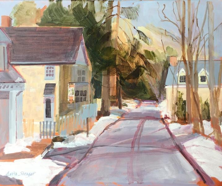 FLEECYDALE ROAD by Anita Shrager - 20 x 24 in., o/l • $4,000