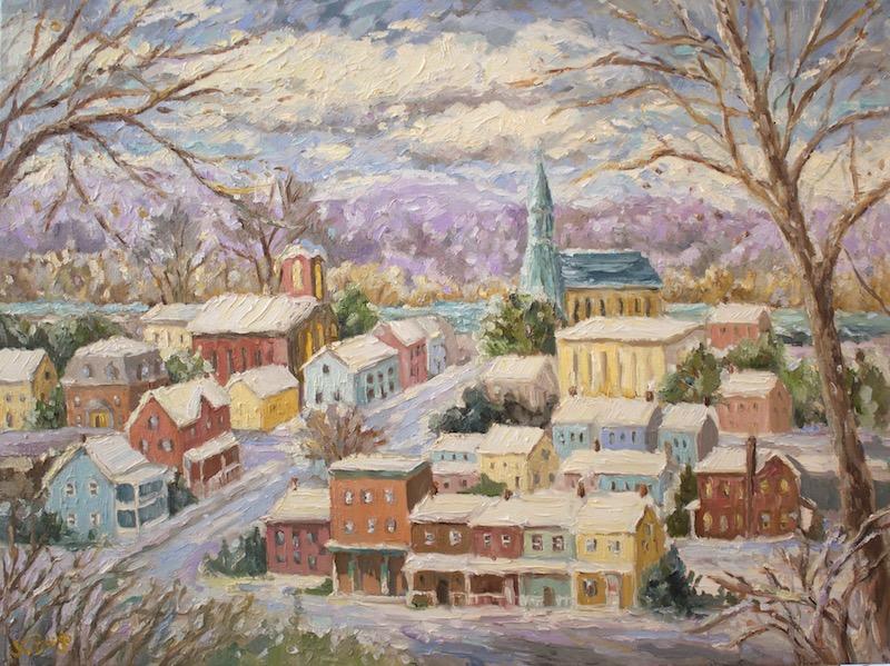 LAMBERTVILLE OVERLOOK VI by Jean Childs Buzgo - 18 x 24 in., o/c • $2,500