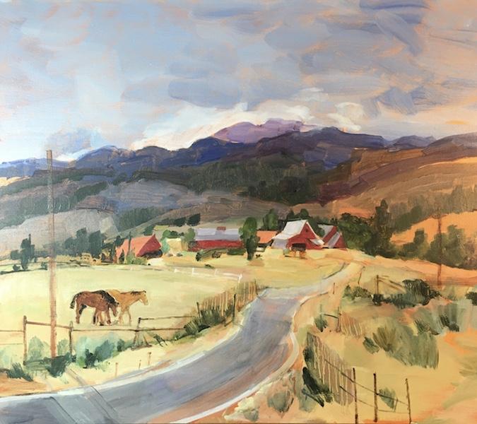 MOUNTAIN RANCH, ASPEN by Anita Shrager - 20 x 24 in., o/c • $4,000
