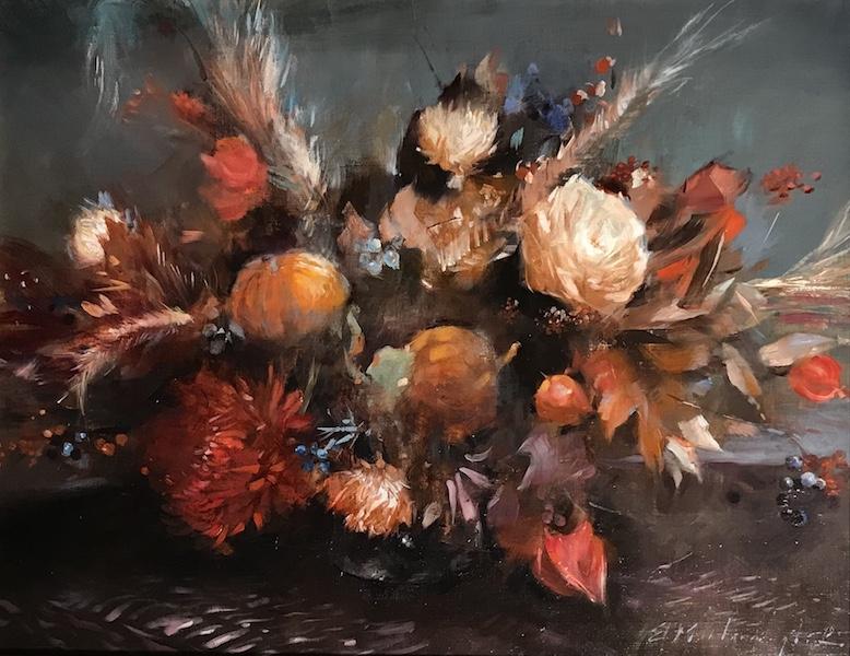 AUTUMN BOUQUET by Evan Harrington - 14 x 18 in., o/l • $3,000