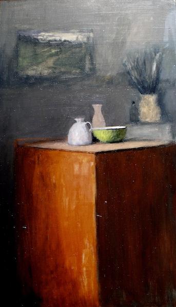 STUDIO STILL LIFE I by David Stier - 28 x 16 in., o/b • $4,500