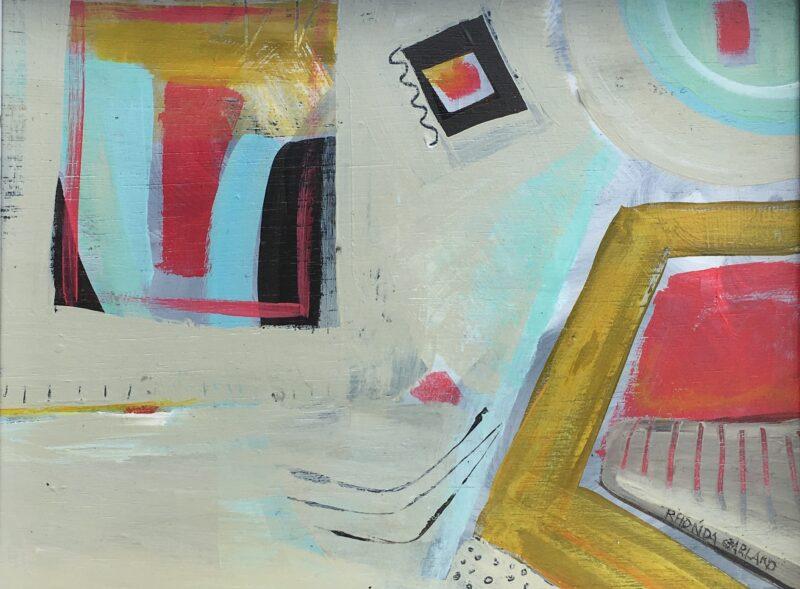 MY ROOM by Rhonda Garland - 8 x 10 in., acrylic on board • $800