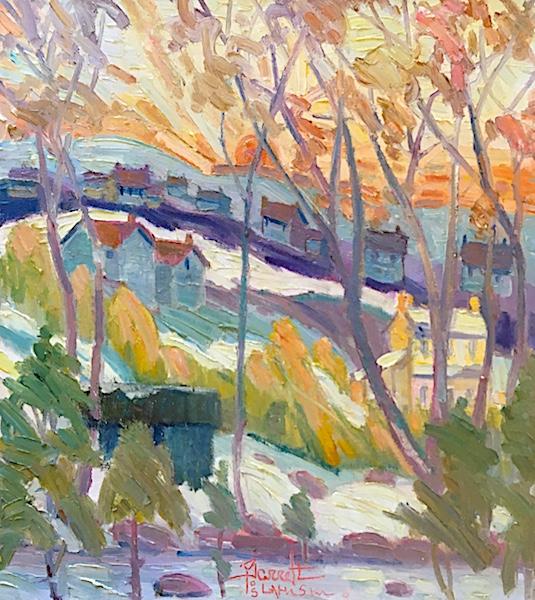 SUNSET by Joseph Barrett - 20 x 18 in., o/c • SOLD