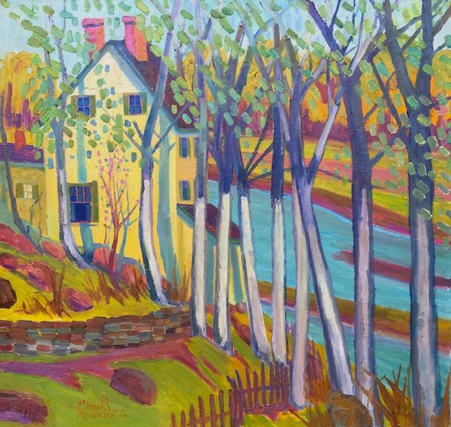 CREEK HOUSE by Joseph Barrett - 30 x 32 in., o/c • $10,900