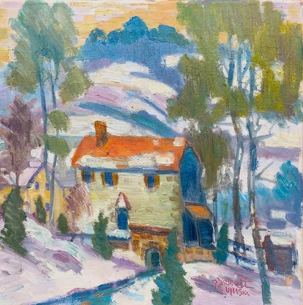 PENNSYLVANIA HILL SIDE by Joseph Barrett - 14 x 14 in., o/c • $4,250