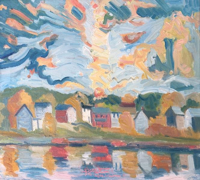 SUNSET, BUCKINGHAM TOWNSHIP by Joseph Barrett - 20 x 22 in., o/c • SOLD