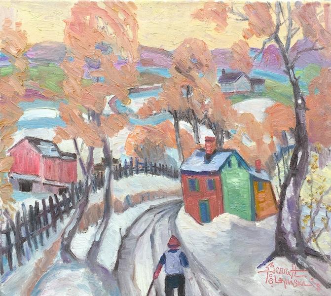 WINTER WAY by Joseph Barrett - 18 x 20 in., o/cb • $6,000