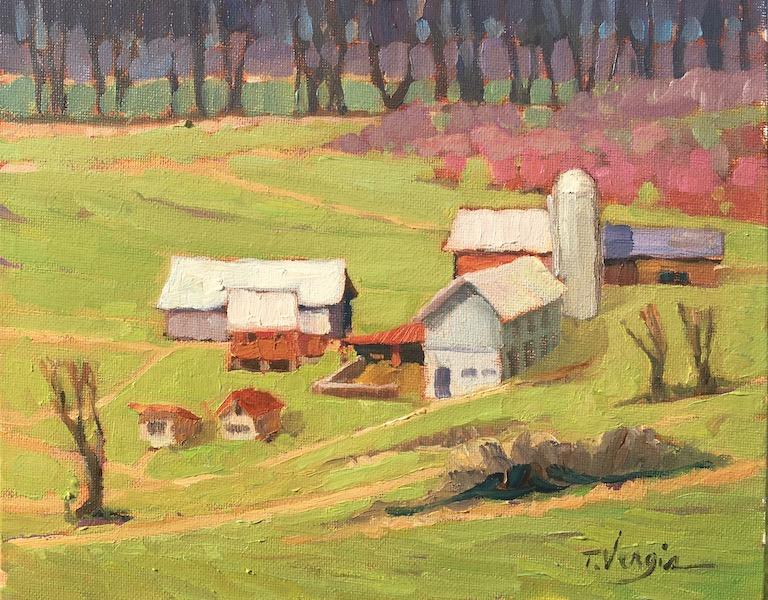 CURTIS FARM (ROSEMONT, NJ) by Trisha Vergis - 8 x 10 in., o/c • $1,200
