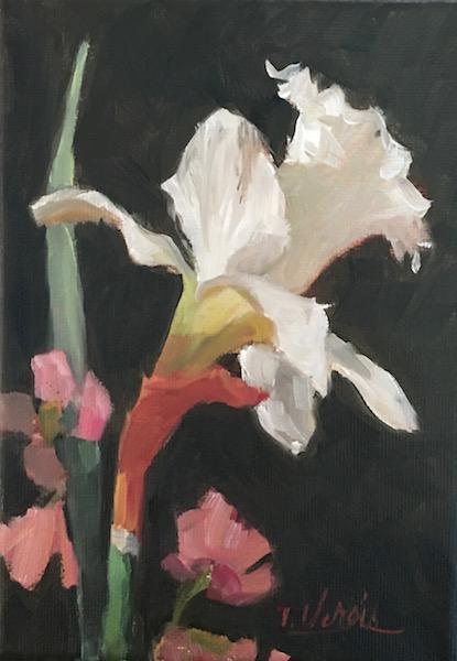 DAFFODIL & QUINCE No. 9 by Trisha Vergis - 7 x 5 in., o/c • $750