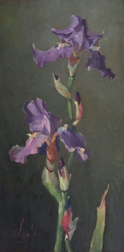 IRIS No. 3 by Trisha Vergis - 24 x 12 in., oc/b •$2,400