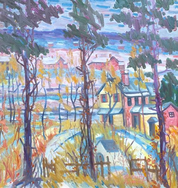 EARLY WINTER by Joseph Barrett - 32 x 30 in., o/c • $11,500