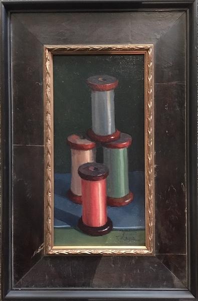 FOUR SILK SPOOLS by Trisha Vergis - 12 x 6 in., o/cb • $1,400