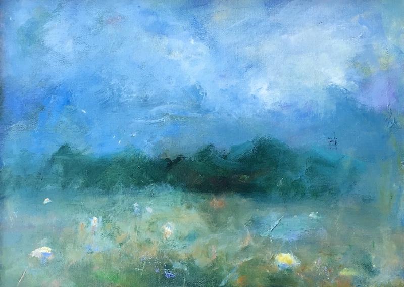 SHEEP MEADOW by Desmond McRory - 12 x 16 in., oil on board • $1,600