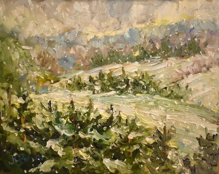 WINTER WONDERLAND by Jean Childs Buzgo - 8 x 10 in., o/b • $1,000