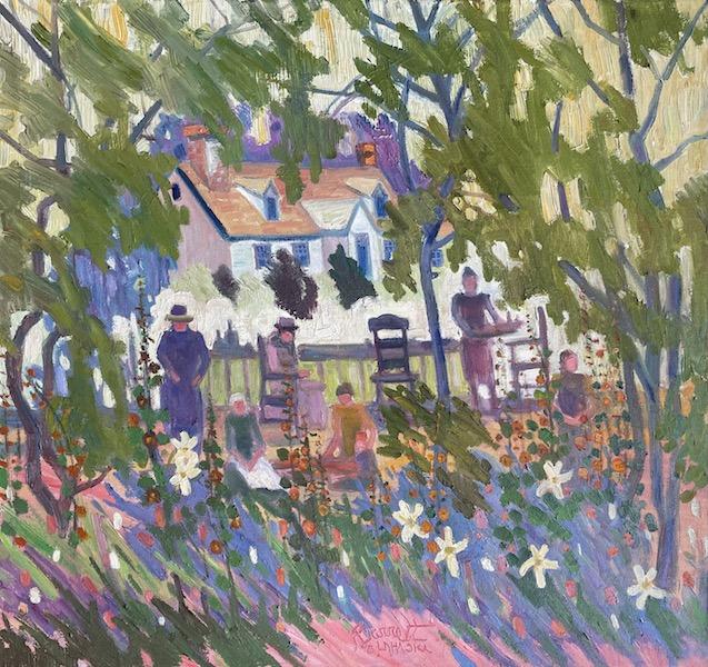 LUNCHEON by Joseph Barrett - 28 x 30 inches, oil on canvas • $9,850