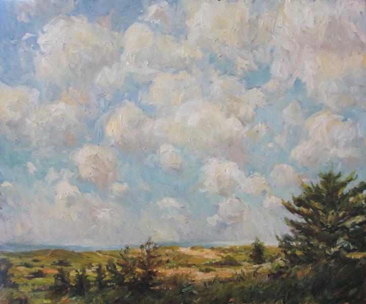 LIFTING SKYLINE by Jennifer Hansen Rolli - 20 x 24 in., o/c •SOLD